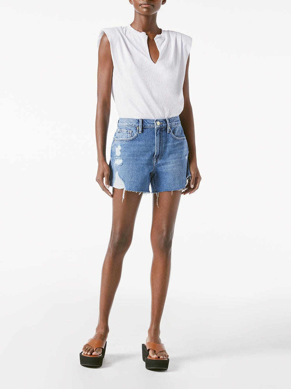 shorts front full body view