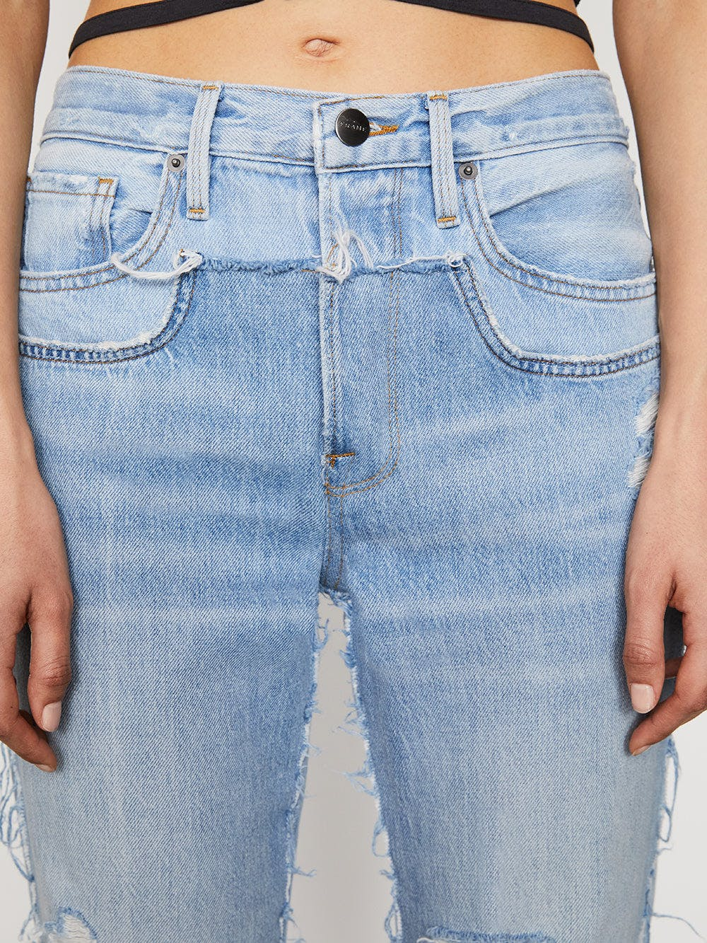 jeans front detail view