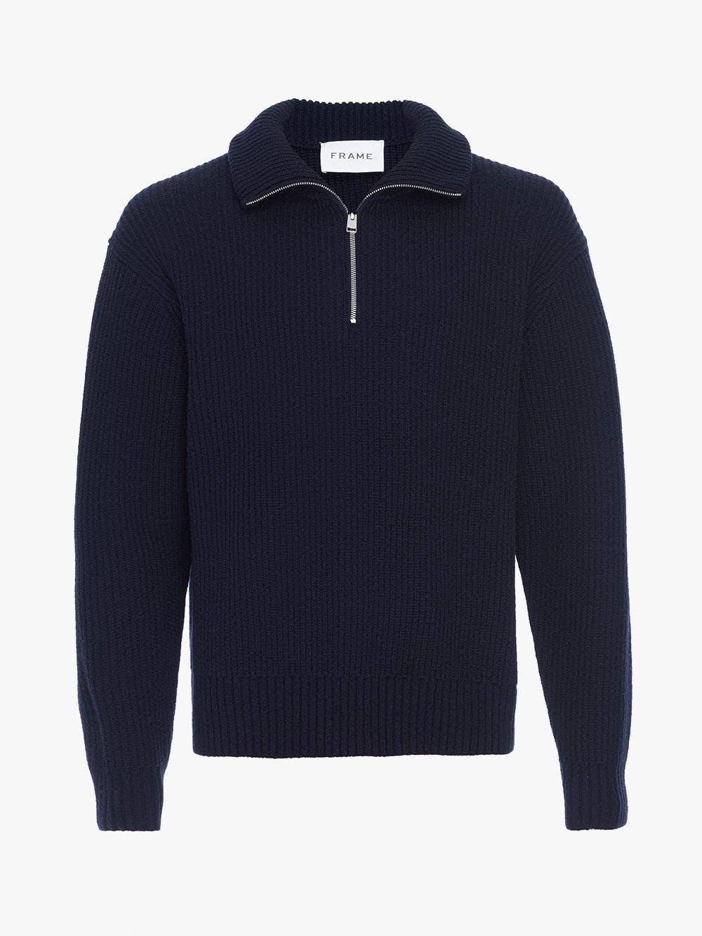 The Essential Half Zip Sweater -- Navy