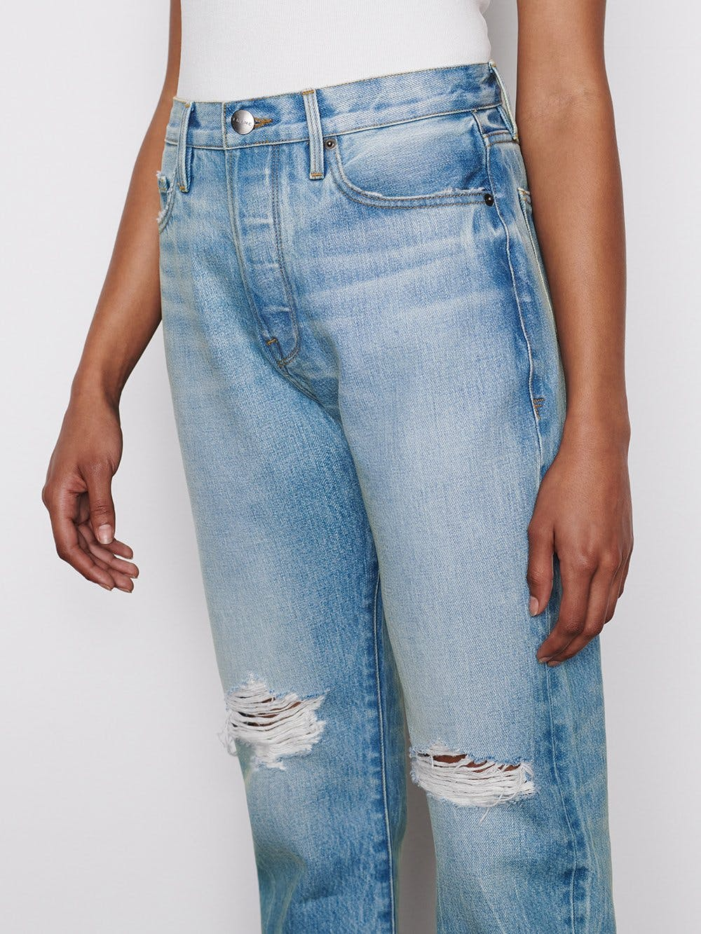 jeans side detail view
