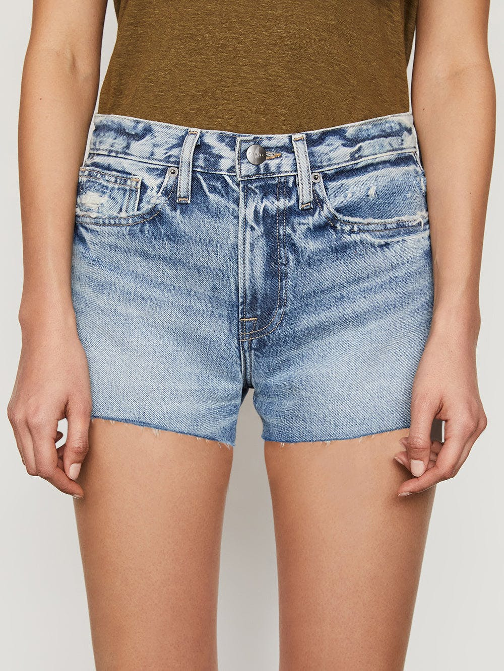 shorts front detail view