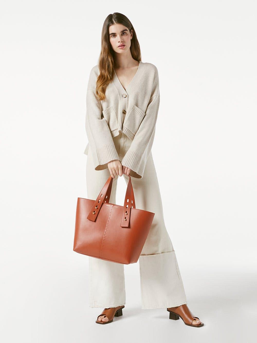 handbag front full body view