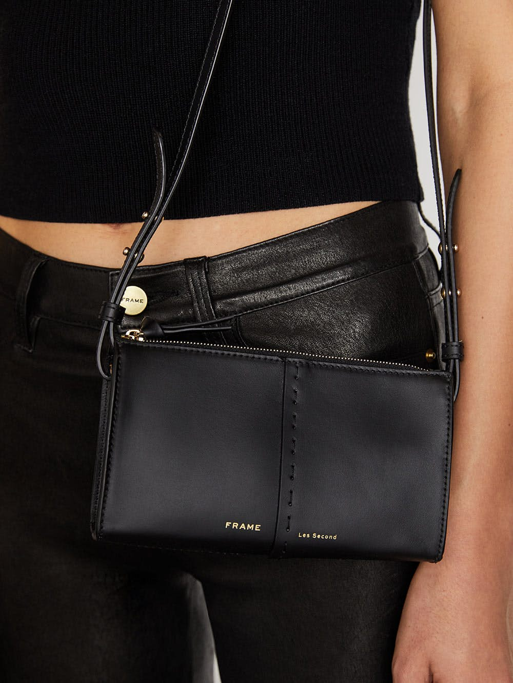 handbag on-model view