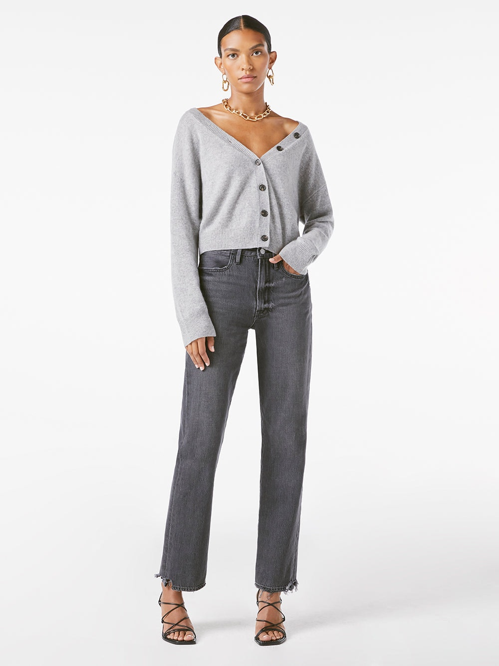 sweater front full body view
