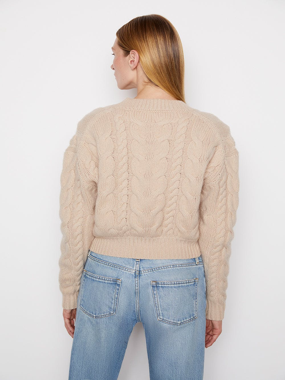 Cable Button Down Cardi -- Oatmeal