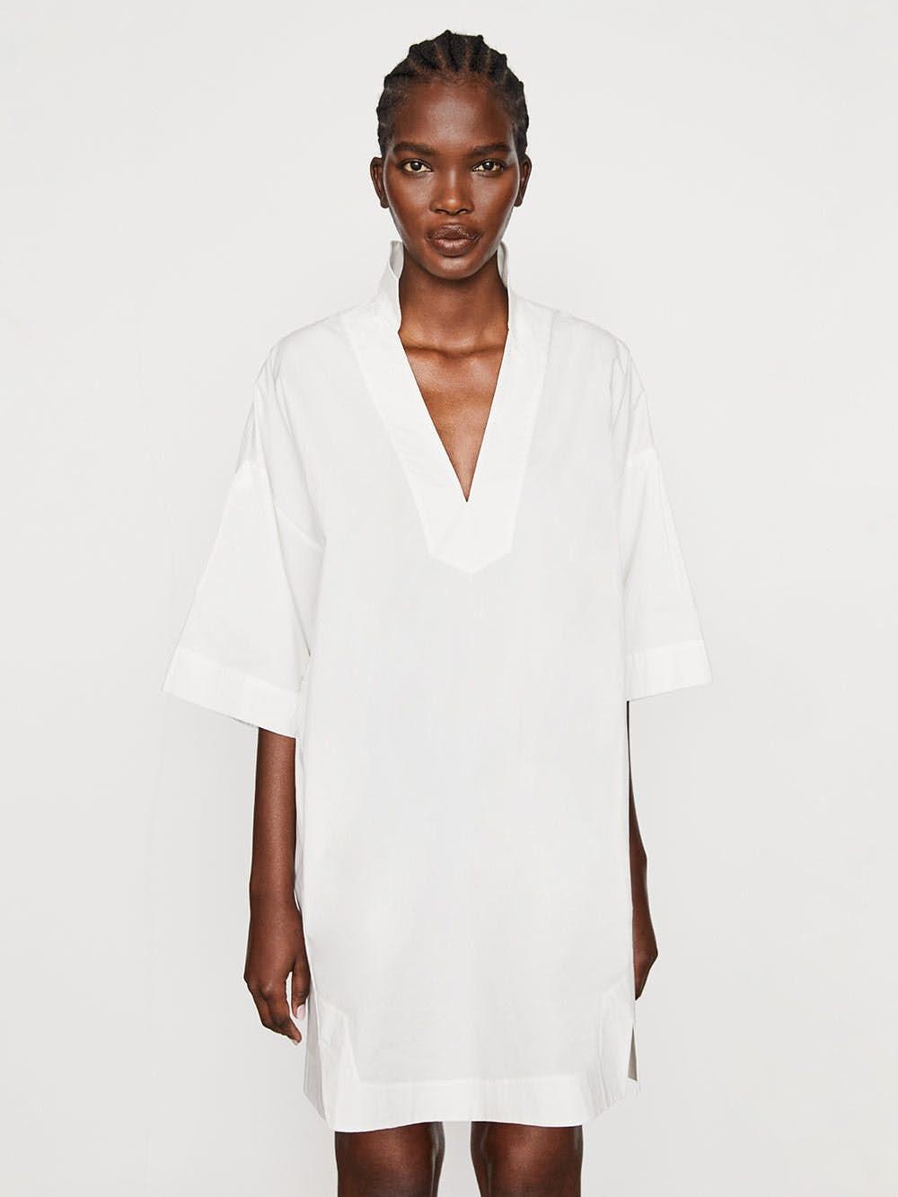 Channing Dress -- Blanc