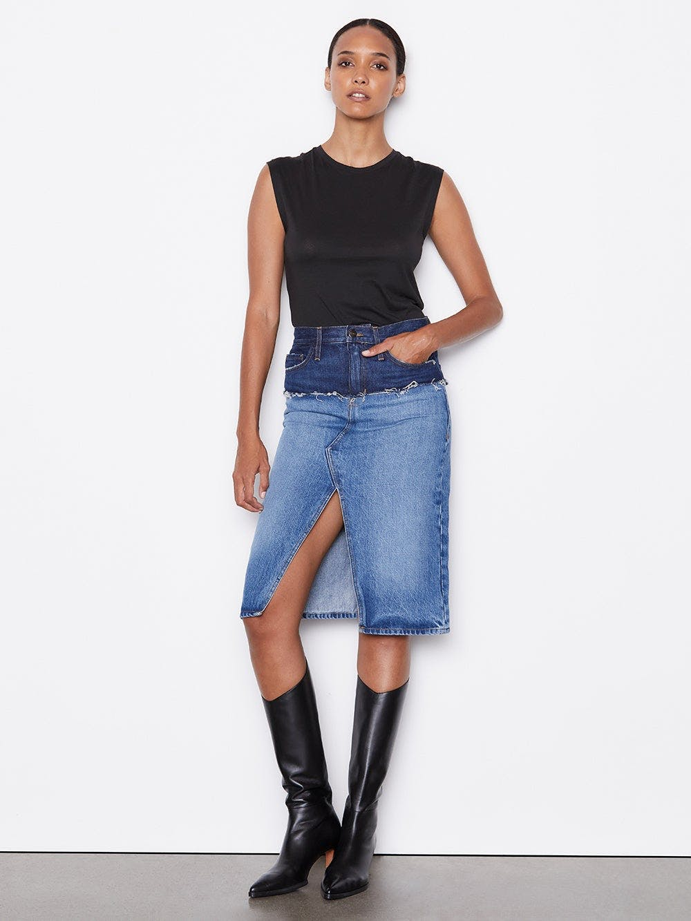 skirt front full body view